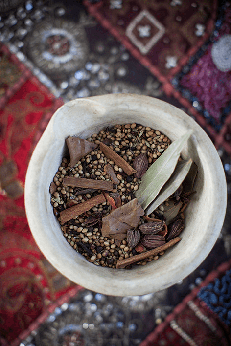 Mortar & Pestle with Garam Masala